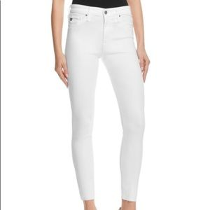 🆕AG Farrah Skinny High-Rise Ankle Jeans In White